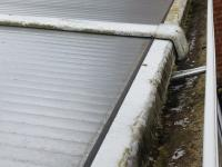Gutter cleaning - before